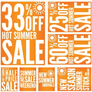 Summer Promotion Sale Printables