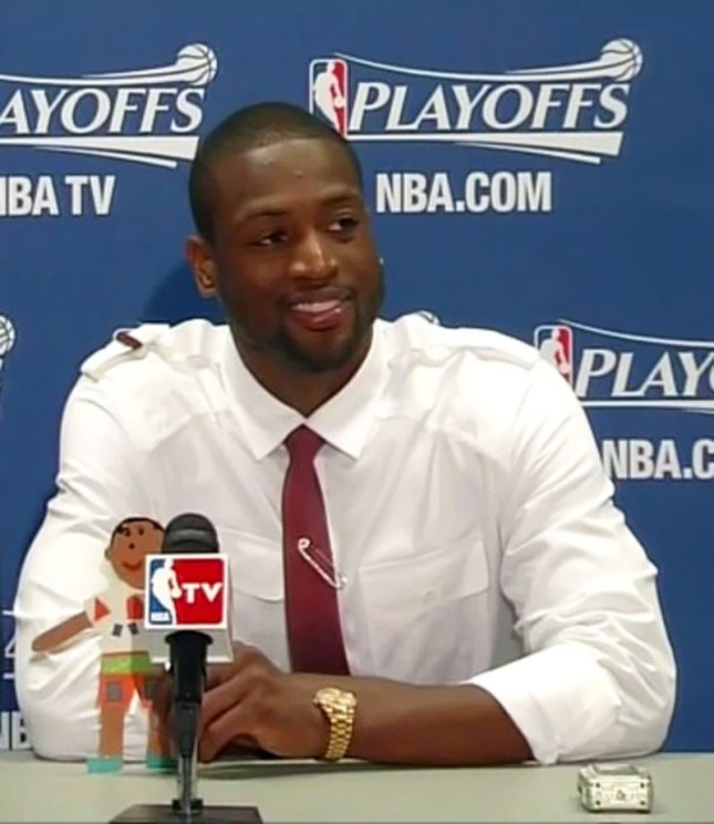 D.Wade with Rolex